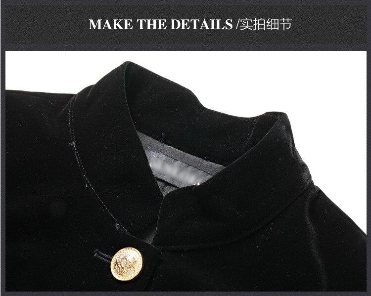 Taille W1628 Haute Mince En Et Station Mode Célèbre Métal Robe Dames D'hiver Nouveau Automne Black De Soie Bouton Européenne Marque Velours qfTxgAw14