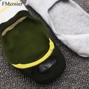 Image 5 - Calcetines tobilleros cortos de silicona antideslizantes, para hombre, talla grande, talla 43 45 46 47, 10 pares