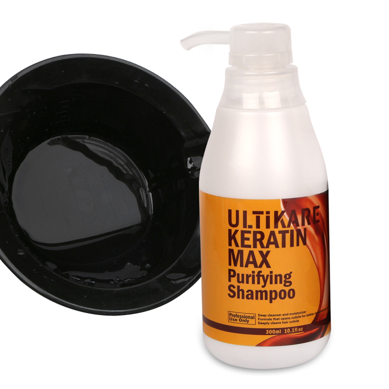 Helpful for Brazilian Keratin Treatment with Portable Capacity 300ML Purifying Shampoo Deep Cleansing Hair Care Salon Products