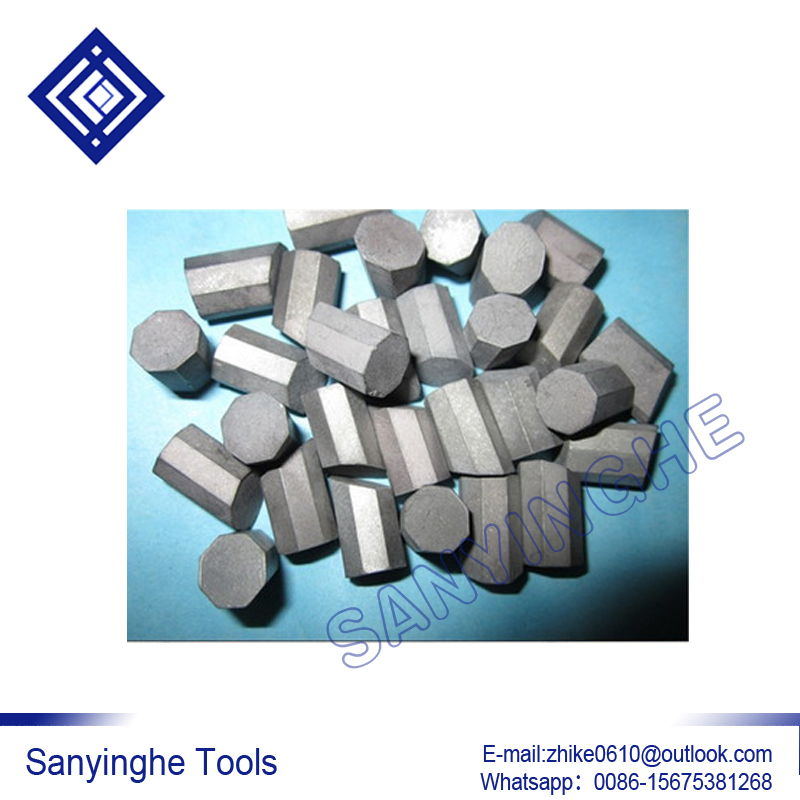 free shipping 1KG YG11C T107 / T110 hard alloy carbide geological mine rock cutter head teeth octagonal brazed inserts tips