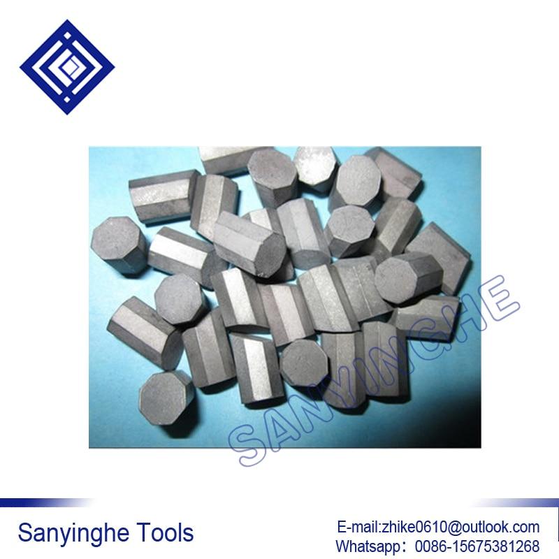 free shipping 1KG YG11C T107 / T110 hard alloy carbide geological mine rock cutter head teeth octagonal brazed inserts tips