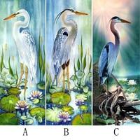 5D DIY Diamond Painting Needlework Crane And Parrot Full Square Drill Mosaic Diamond Embroidery Animal Decoration