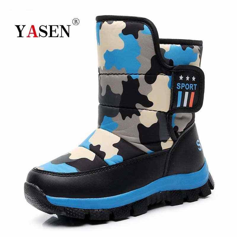 Kinderen Laarzen Jongens Snowboots Meisjes Waterdicht Kinderen Schoenen Voor Jongens winter warm baby schoenen Studenten Mode Kind Schoenen Kids