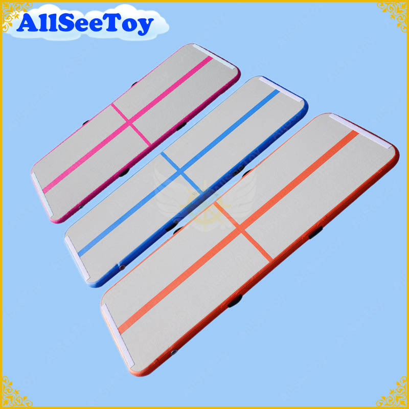 3 meters Long Air Track ,Inflatable Airtrack for Family use, Floor Home Gymnastics Tumbling Mat, Inflatable Gymnastics Air Mat