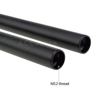 Image 2 - 2 STKS Aluminiumlegering M12 15mm Staven 15 cm/5.9 inch Lange voor DSLR Camera Rig 15mm Zwart Staven Systeem Camera Rail Staven 203