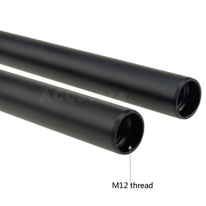 Image 2 - 2 قطع سبائك الألومنيوم m12 15 ملليمتر قضبان 15 سنتيمتر/5.9 بوصة طويلة ل كاميرا dslr تلاعب 15 ملليمتر الحديدية قضبان قضبان نظام كاميرا الأسود 203