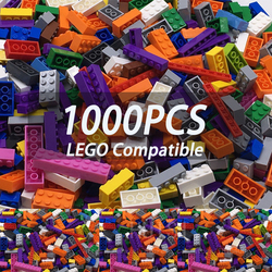 Boys Toys 6 Years 1000 Pieces Building Blocks Set More Big Pieces 1.7KG 15 Color Plastic DIY Model Building Bircks Toys For Kids