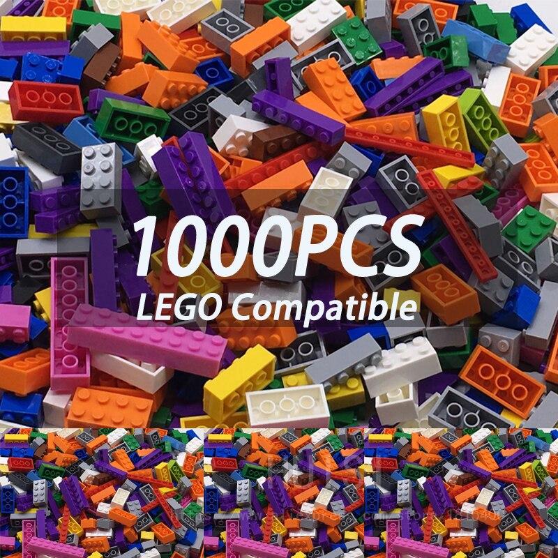 Meninos brinquedos 6 anos 1000 peças blocos de construção conjunto mais grandes peças 1.7 kg 15 cor plástico diy modelo construção bircks brinquedos para crianças
