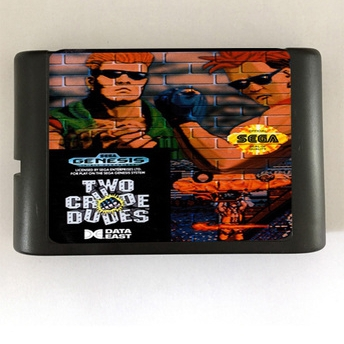 Two Crude Dudes - 16 bit MD Games Cartridge For MegaDrive Genesis console
