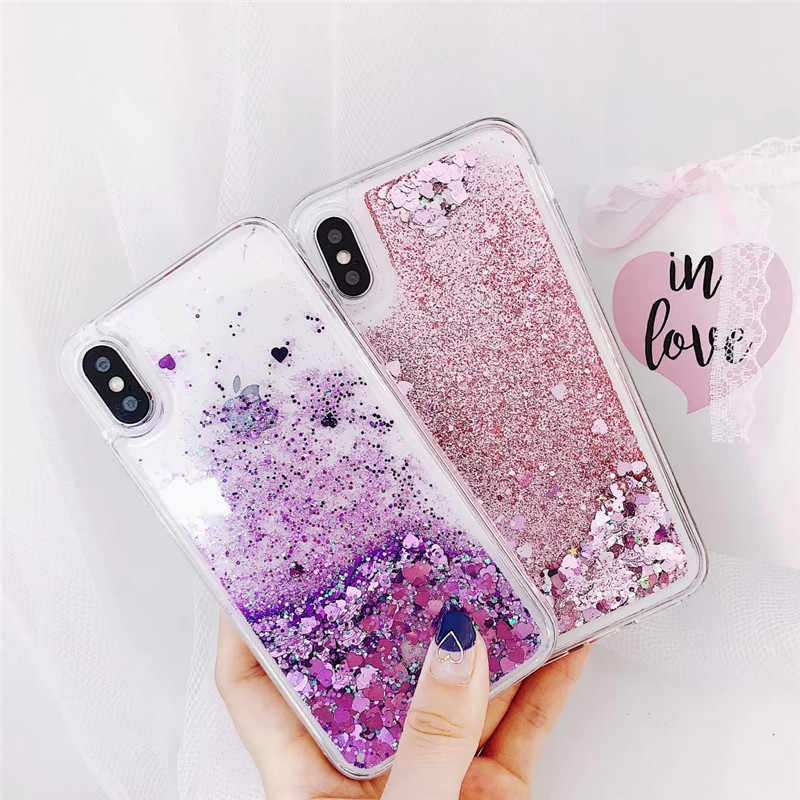 Pasir Isap Cair Case untuk OPPO A9 2020 Bling Payet Glitter Lembut TPU Cover UNTUK OPPO A5 2020 A11X Silikon Transparan tritone