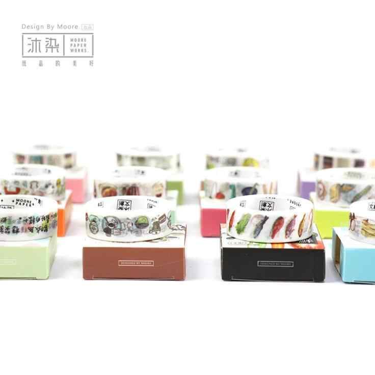 1.5 cm * 7 M Ter Um Descanso Desfrutar Sua Vida Decorativa Scrapbooking Mascaramento Washi Tape DIY Fita Ofício Escola da Fonte de escritório