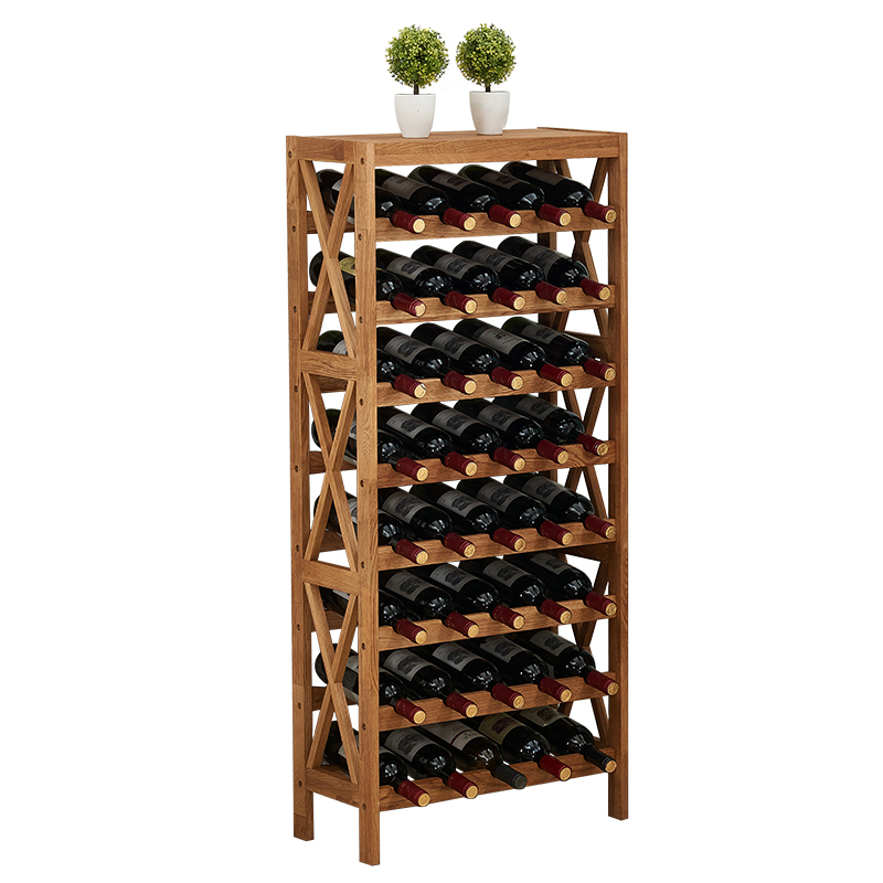 Wood Home Bar Furniture: Modern Wooden Wine Rack Cabinet Display Shelf Bar Globe