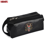 BJYL Hand bag men's genuine leather clutch bag top layer leather business large capacity men handbag personality clutch bags