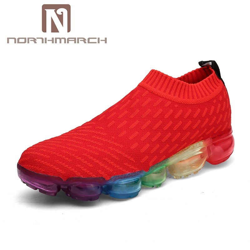 NORTHMARCH Hot Sale Summer Shoes Men Outdoor Walking Sneakers Shoes For Men Slip-On Breathable Mesh Comfortable Men Trainers ...