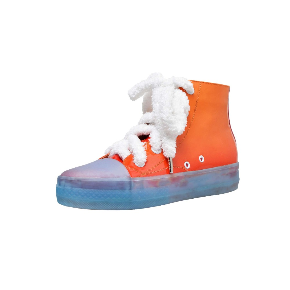 Rond Cuir De Concise Bas Orange Cheville Style Étoiles En Bottes Dentelle L2f1 Grande Doux Filles Taille Vache Limitée lavande Fée Film Édition Up Pink Bout light Pqw6xYZ