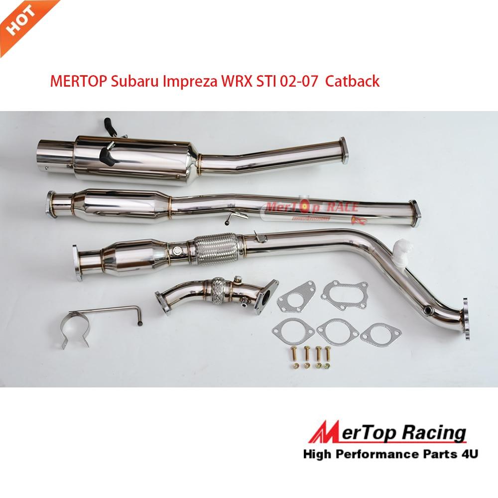 Stainless Steel Exhaust System Kit fits 2002-2005 Subaru Impreza 2.5L