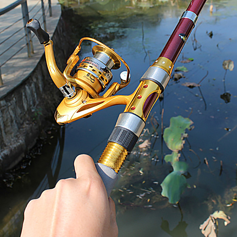 1.8-3.0M Carbon Fiber Telescopic Fishing Rod Portable Spinning Fishing Rod Pole Travel Sea Boat Rock Fishing Rod