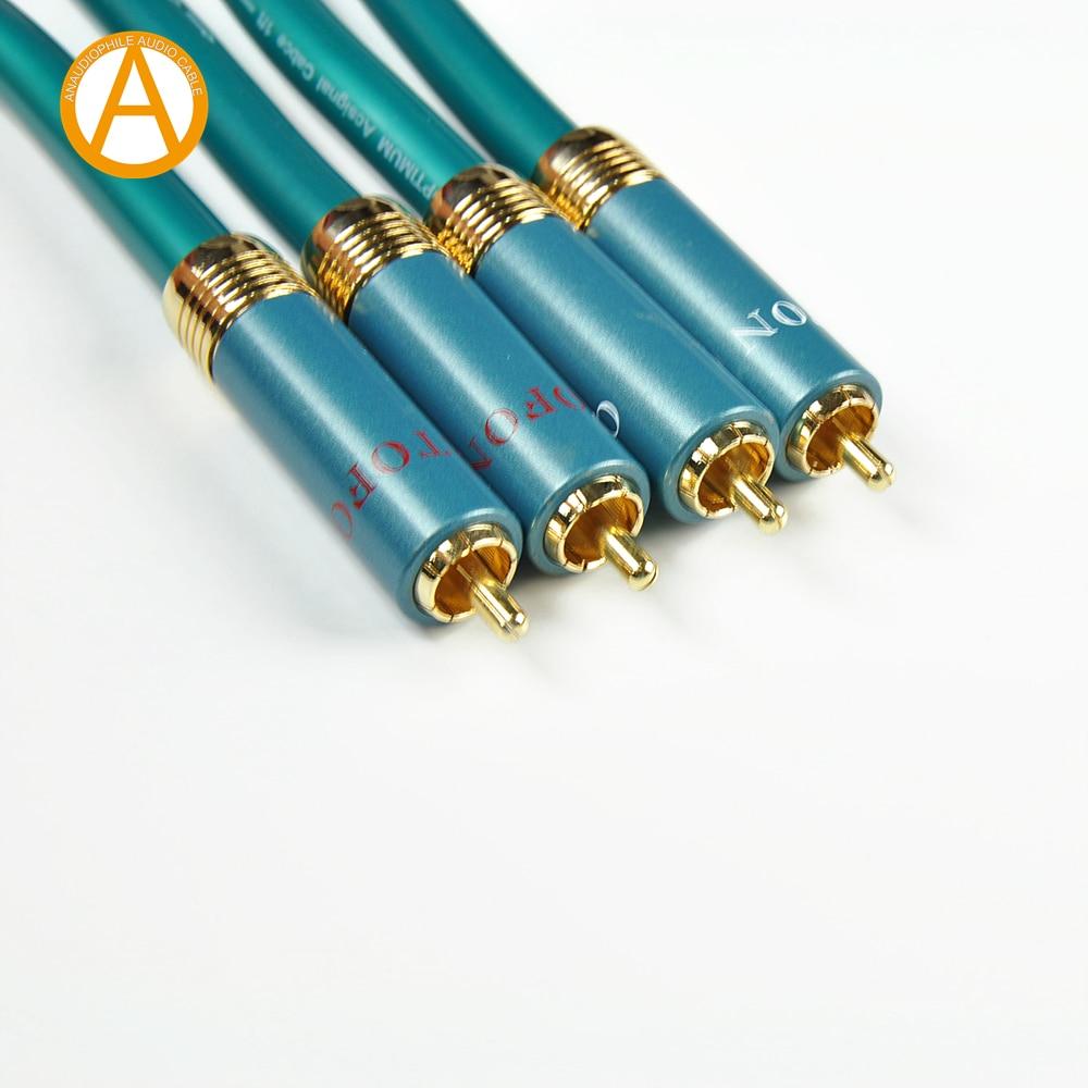 Hi-Fi ORTOFONN RCA кабель, Ortofon 8NX штекер-штекер RCA соединительный аудиокабель для усилителя мощности, cd-проигрывателя, DAC