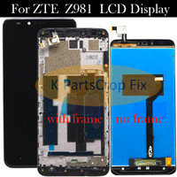 Black High Quality For ZTE ZMax Pro Z981 LCD Display with Touch Screen Digitizer Smartphone Replacement for zte z981 Free Tools