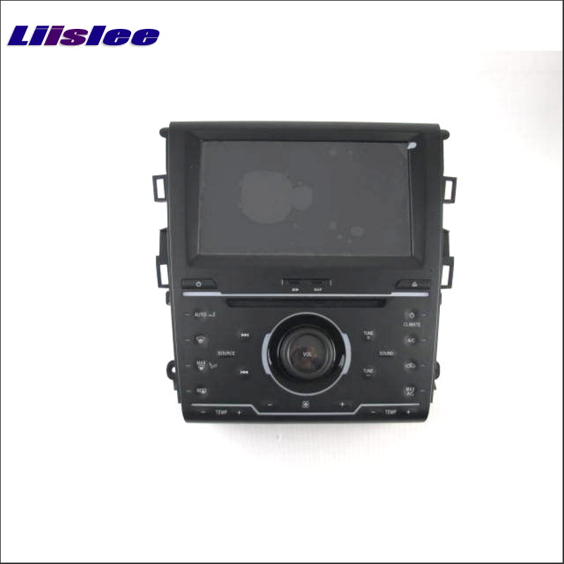 Liislee For Ford For Mondeo Fusion 2013 2014 (1 A/C & 2 A/C) GPS Navigation System + Radio DVD BT Touch Screen Multimedia System jam fusion bt