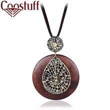 Fashion Beautiful Women Pendants Necklaces Wooden Pendant Necklace