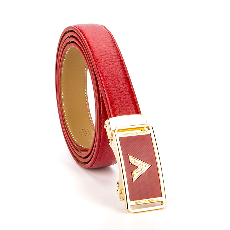 2017 New Arrival V Luxury Business Designer   Belts   Women Genuine Real Leather Weddding Strap For Jeans Female Dress Waistband Red