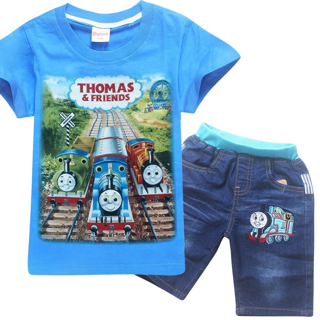 Garçon T-shirt Enfants Tops Thomas et amis Bébé Vêtements Petit Garçon D'été Chemise T-shirts Designer Coton Bande Dessinée tomas train Vêtements
