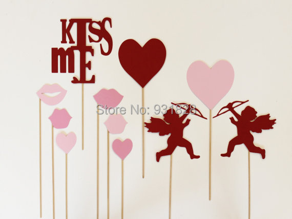 Cheap Photo Booth Props. Valentines Day. Photobooth Photo Props. Cupid  Wedding Birthday Party