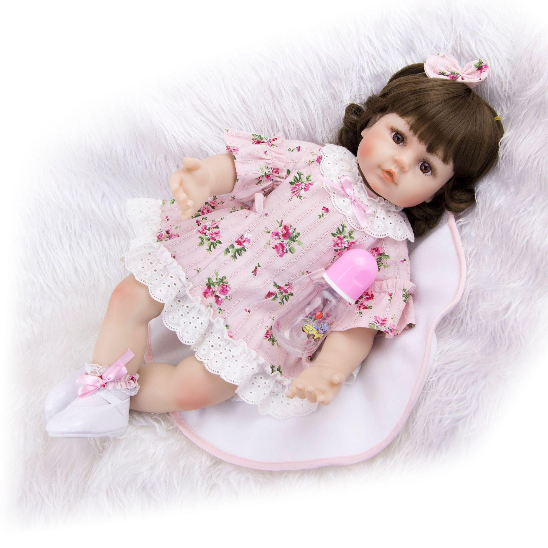 NPK 11/'/' Realistic Newborn Silicone Vinyl Baby Doll Dolls Birthday kids Gift