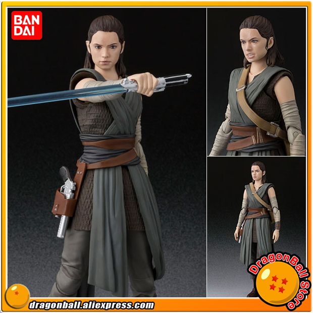 Anime Star Wars Original BANDAI Tamashii Nations S.H. Figuarts / SHF Action Figure - Rey (The Last Jedi)