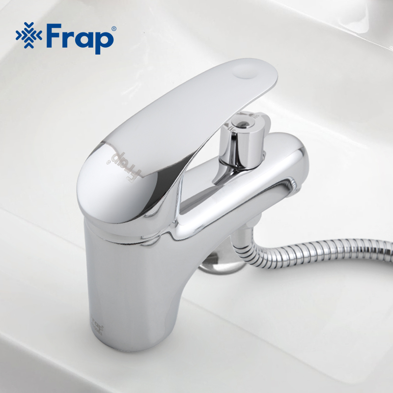 Frap Brass Body Material Toilet basin faucet With shower head Install faucet accessories complete F1221