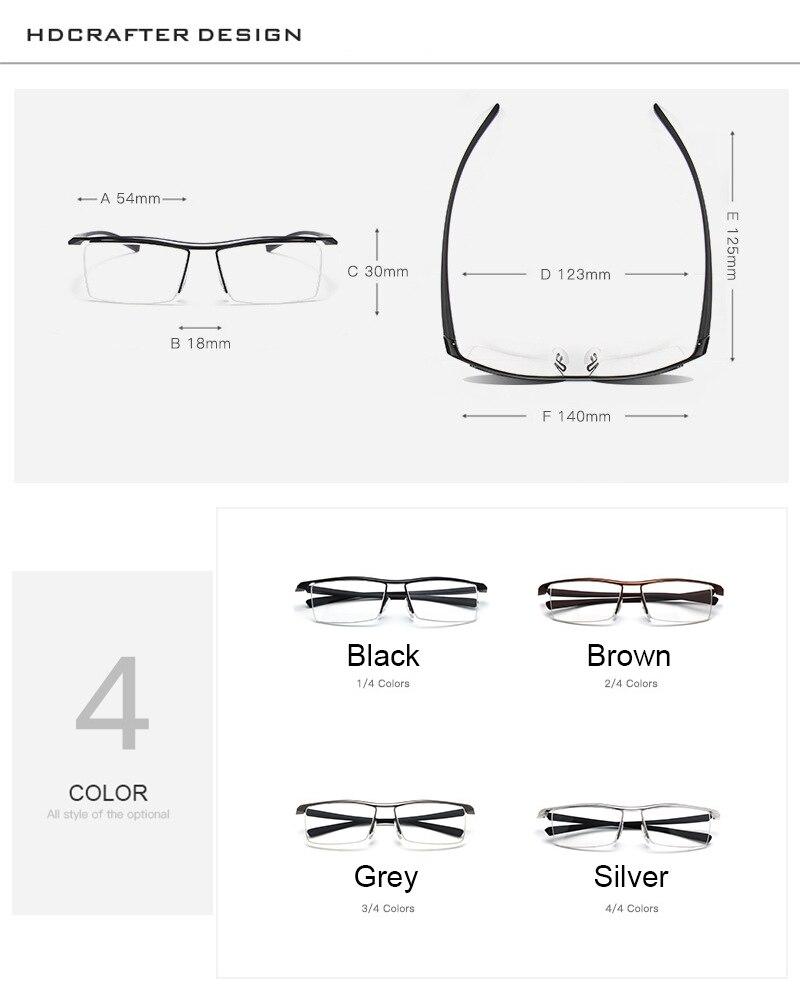 Hdcrafter caliente 2017 gafas tr90 aleación marcos miopía gafas de ...