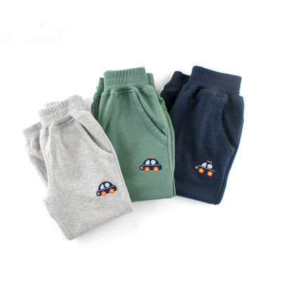 Kids Pants Baby Boys Casual Car Clothing Cotton Elastic Band Long Trousers Sport Spring