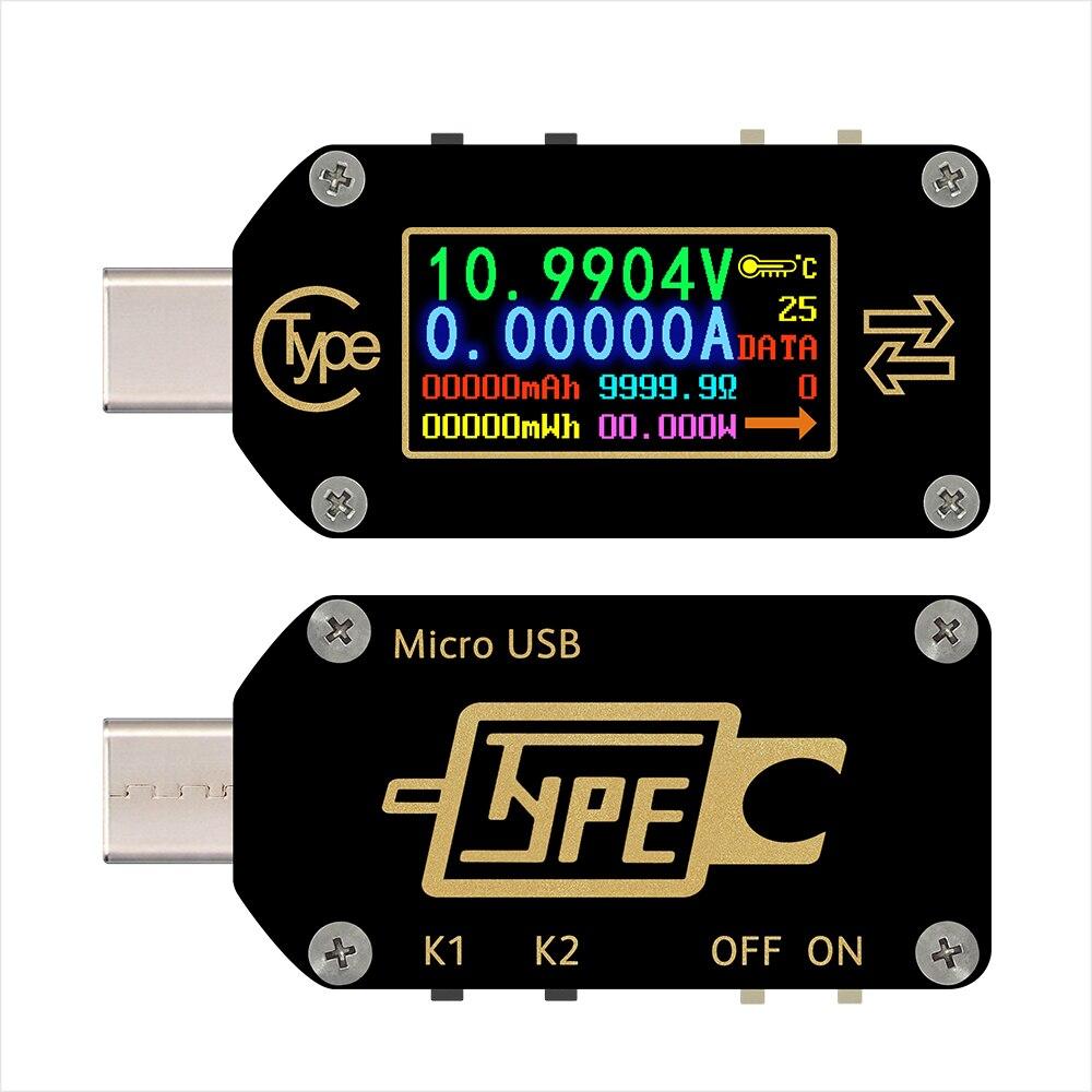RD Voltmeter TC66/TC66C C Typ USB Tester Voltmeter Amperemeter Digital Volt Meter 2 Current Meter Multimeter USB batterie Tester|Spannungsmesser|   -