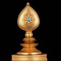 Tibetan Buddhist Supplies Eight Auspicious Solid Copper Manzanar Tray Home Putting Decorations