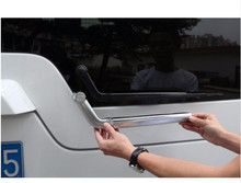 For Land Rover Discovery 4 LR4 LR3 2010-2016 Car Accessory ABS Tail Rear Window Rain Wiper Wipers Nozzel Cover Trim