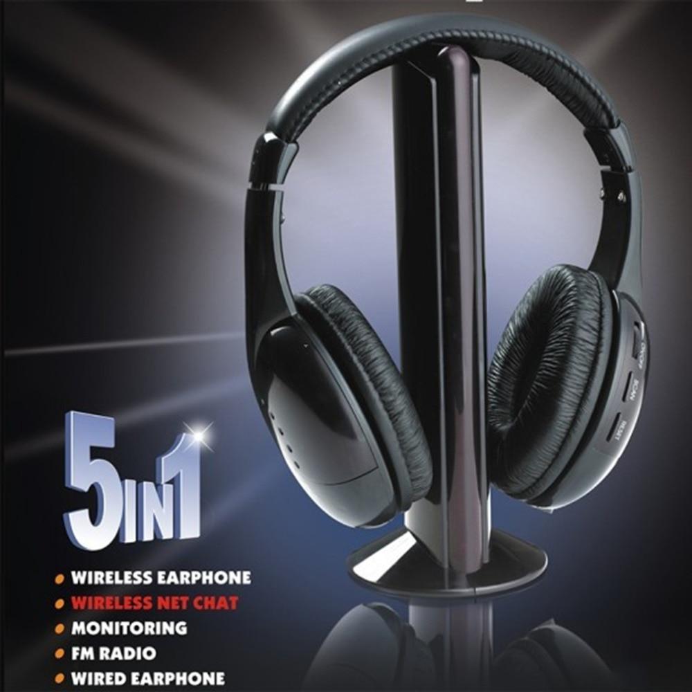 Willensstark Schwarz 5 In 1 Auto Drahtlose Drahtlose Kopfhörer Headset Kopfhörer Für Pc Tv Radio Wireless Kopfhörer Gaming Kopfhörer