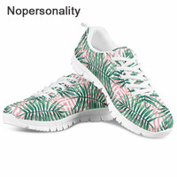 Nopersonality Palm Tree Women Sneakers Female Mesh Shoes Casual Slip On Ladies Flat Shoe Mesh Trainers Soft Walking Footwear