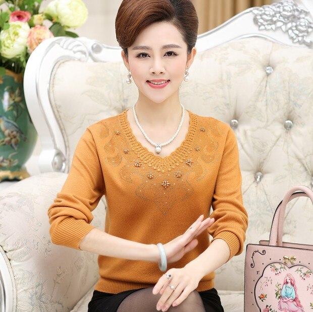 Genuino de las mujeres del suéter XL madre montado gancho de fondo camisa de man