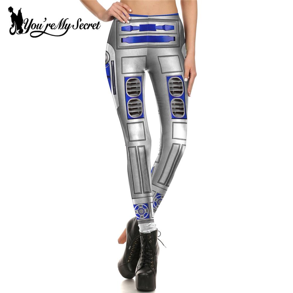 [You're My Secret] Fashion Blue Star War Leggings Women Leggins Print Armor Comic Cosplay Slim Girl Legging Femme Mujer Fitness