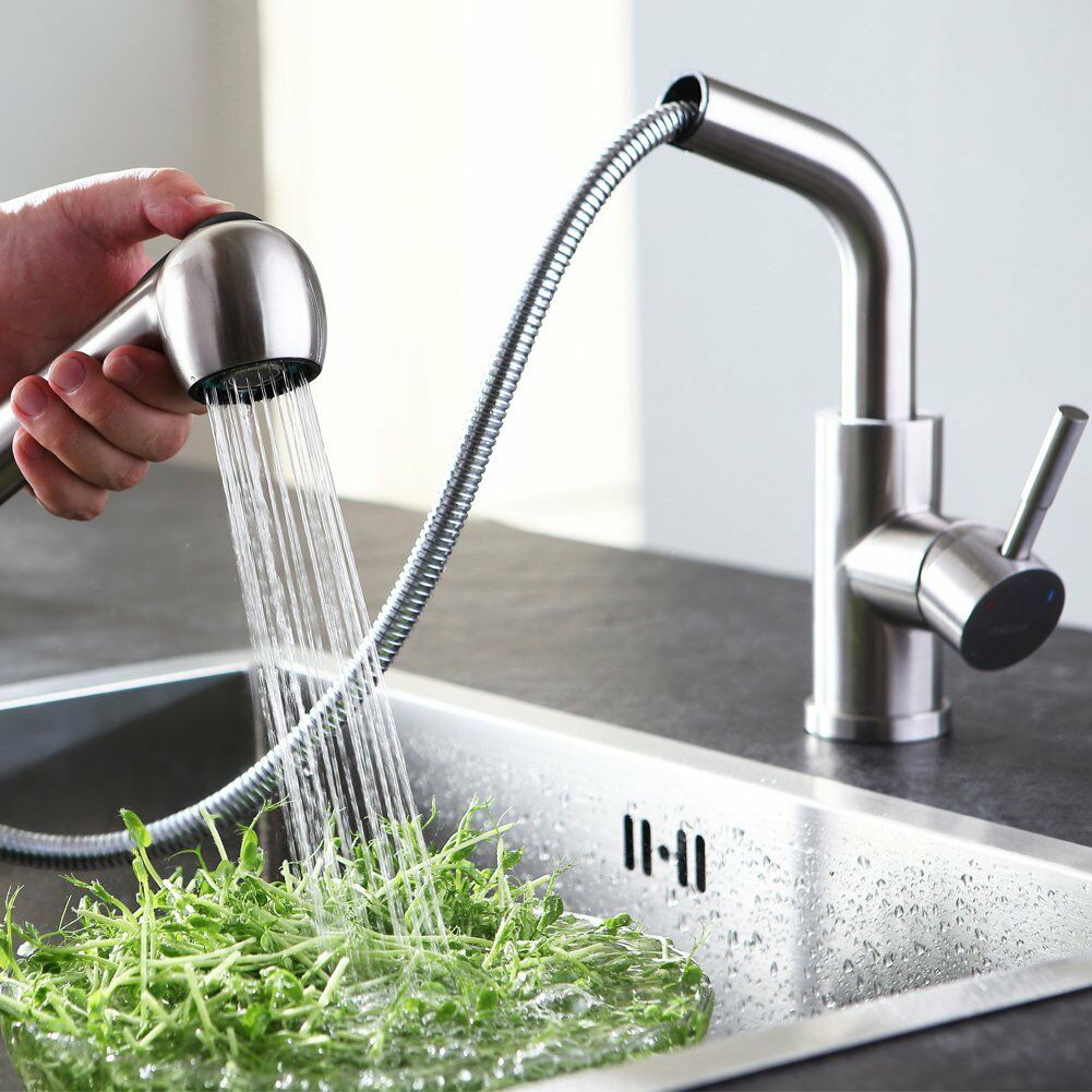 Faucet Pull-Out Kitchen Faucet Single Handle Single Hole Hot And Cold Water Faucet High QualityFaucet Pull-Out Kitchen Faucet Single Handle Single Hole Hot And Cold Water Faucet High Quality