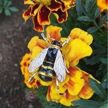 Эмалированная брошь в виде пчелы насекомое для женщин мальчиков