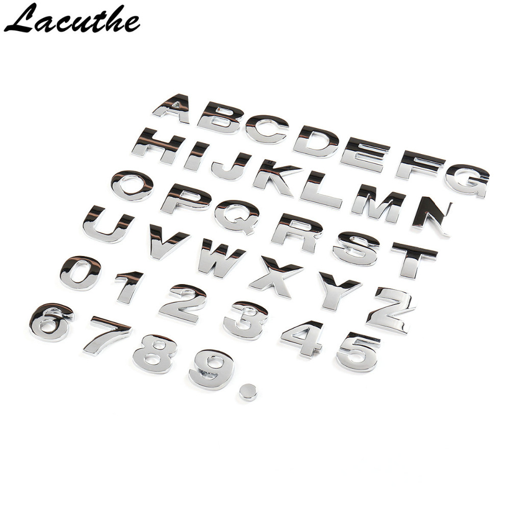 1x LAND ROVER Black Chrome 3D Emblem Badge Alphabet Letter number Car DIY word