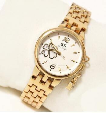 FA1213 Brand Luxury Crystal Gold Watches Women Fashion Bracelet Quartz Dress Watch Female Clock Relogio Feminino