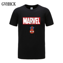 New Summer 3D Iron Spiderman T Shirt Men Marvel Avengers Men