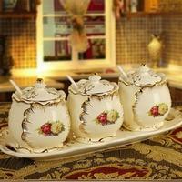 Eine Europäische keramik topf gewürz gewürz flasche pull 4 stück 3 stück anzug die öl gewürzkasten|Besteck-Sets|Heim und Garten -