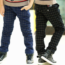 Child pants 2017 spring child trousers british style plaid casual pants fashion boys pants child trousers pants for boys