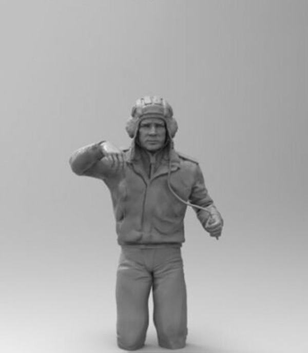 1/16  Soviet T-72 Tank Commander Winter Resin Figure Model Kits Miniature Gk Unassembly Unpainted
