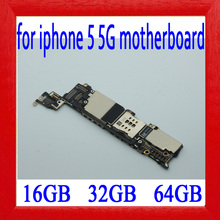 with Full unlocked for iphone 5 Motherboard,100% Original for iphone 5 5g Logic board with IOS System,16GB / 32GB / 64GB