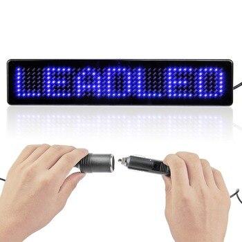цена на 2PCS 9inch LED Car Display English Remote Control LED Car Sign Board LED Programmable Scrolling Message Display Screen Sign Lamp